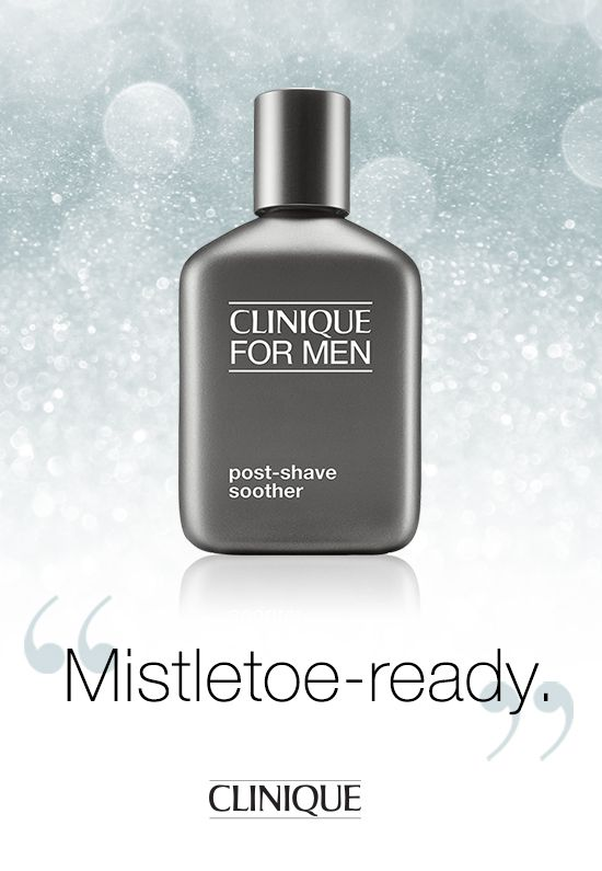 He'll be mistletoe-ready with #Clinique Post-Shave Soother. #Gifts