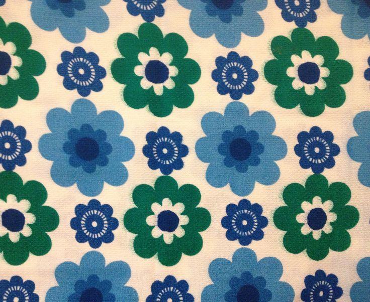 Vintage floral fabric 1960s