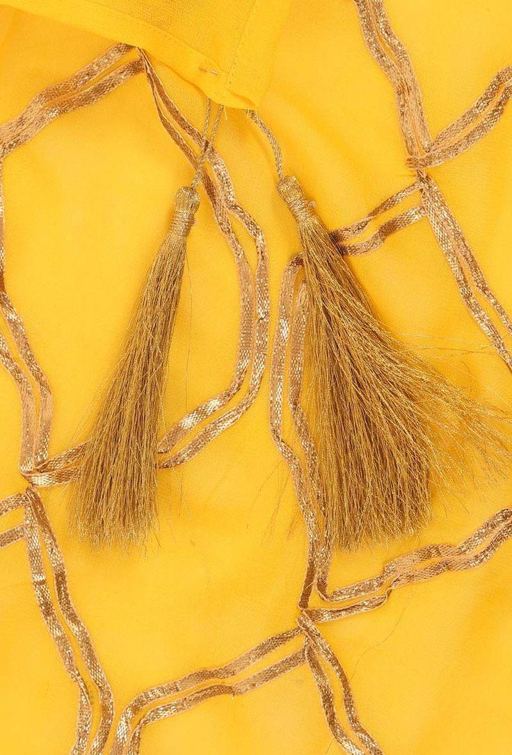 Buy Georgette Dupatta# Gota embroidered bright colors dupattas, festive designer collection, https://www.tjori.com/accessories/aadab/pink-gota-embroidered-dupatta/