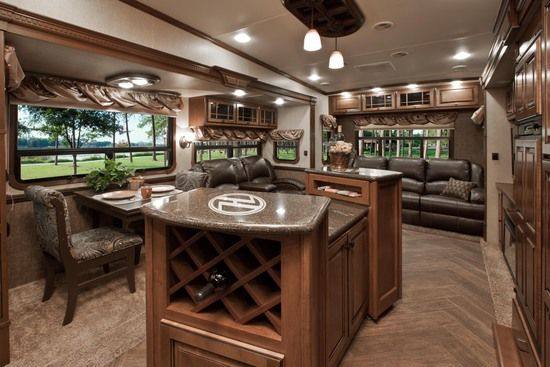 Heartland Luxury Fifth Wheels | Heartland RVs - Love this interior!  So comfy and still lots of windows which I really like.