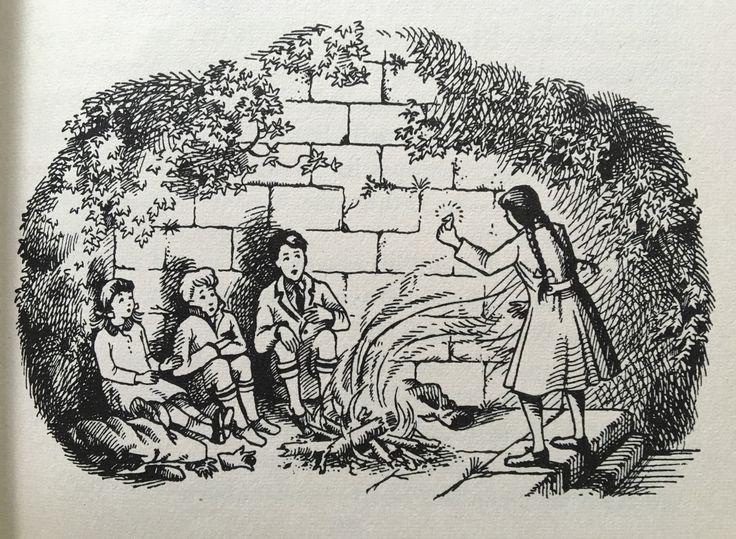 Pauline Baynes illustration from 'Prince Caspian' As