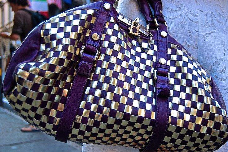 Marc by Marc Jacobs Purple and Gold Bag