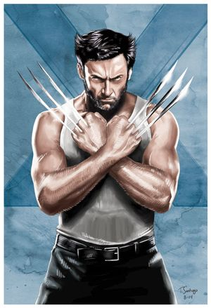 wolverine marvel fan art by artist tony santiago