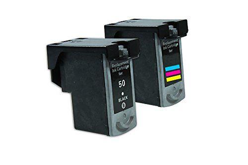 Compatible pour Canon Pixma MP 460 Cartouche d encre Promo Pack Cyan/Magenta/Jaune/Noir 0615B001 & 0617B001 XXL PG-40 & CL-41 1 x 24 & 1 x…
