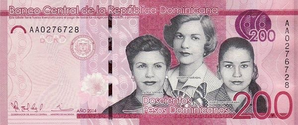 Matawang Republik Dominika (DOP) 200 Pesos Dominicanos