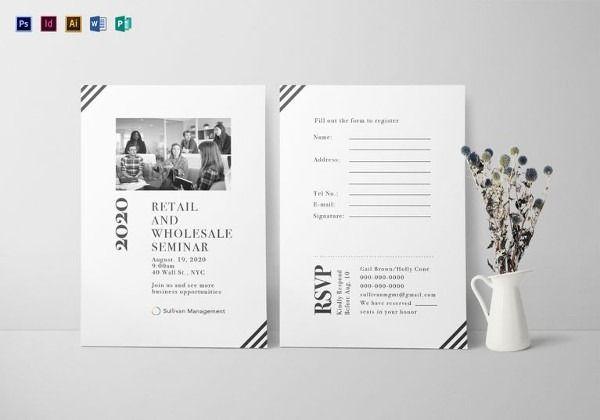 Invitation Card Format For Seminar