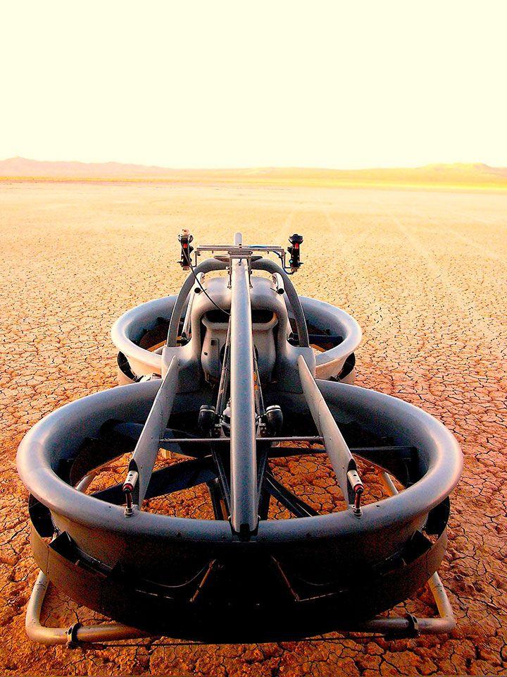 Dans un futur proche, vous vous déplacerez à 72km/h au-dessus du sol grâce à cette moto volante