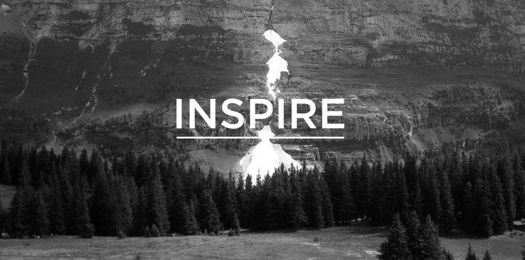 Inspire intro on the Fletcher Creative website. #Logo #Branding #Icon #Identity #Typography #website #layout #mountains #nature #environment #switzerland #design #creative #designstudio