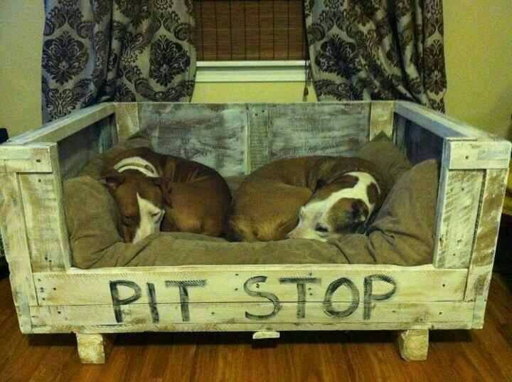 Pit Stop homemade dog bed