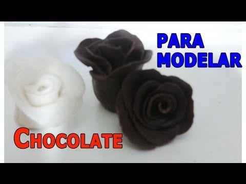 chocolate para modelar - YouTube