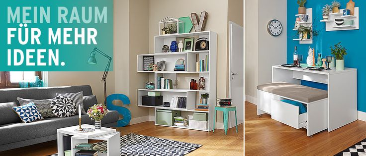 platzsparende m bel f r kleine r ume bei tchibo tiny apartment pinterest r ume. Black Bedroom Furniture Sets. Home Design Ideas