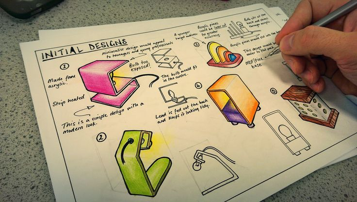 Example design work for GCSE  Product Design students.