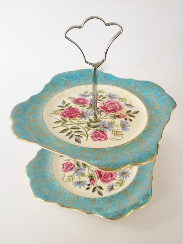 Vintage Two Tier Cake Stand