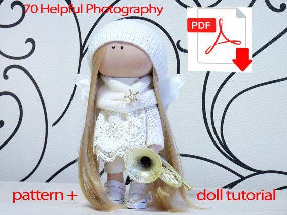 Textile doll tutorial. PDF Digital Pattern. Sewing Patterns. Tutorial to create a textile doll. Instant download after payment. The tutorial contains the pattern, a description of the process of work and a lot of photos. Enjoy. Doll in finished form is 28-29 cm. 11  Instant Download. 2 PDF file contains the dress patterns and pattern doll, a job description with pictures. PDF file, print on A4 size.  Patterns made by me personally, intended for personal use only. Templates can not sell…