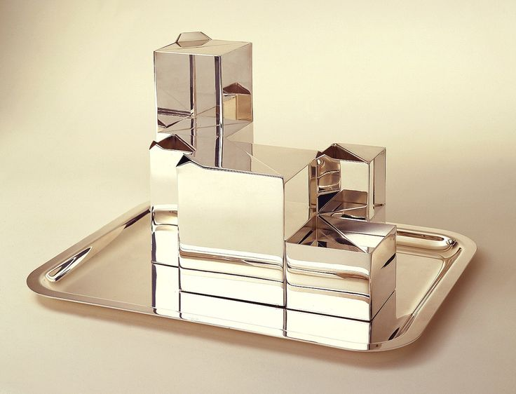 "Tea Set, ""Geometrie"", 1970, France. Manufactured by Christofle. Designed by Henri Bouilhet."