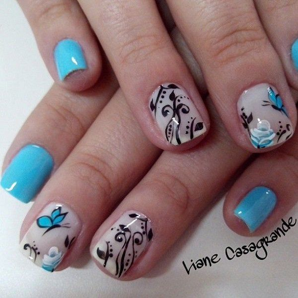 46 Best Images About Butterfly Nail Art On Pinterest