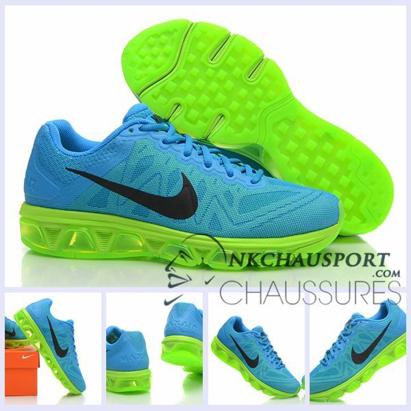 Nike Air Max 2010 | Meilleur Chaussures Running Homme Bleu Clair/Vert Fluo