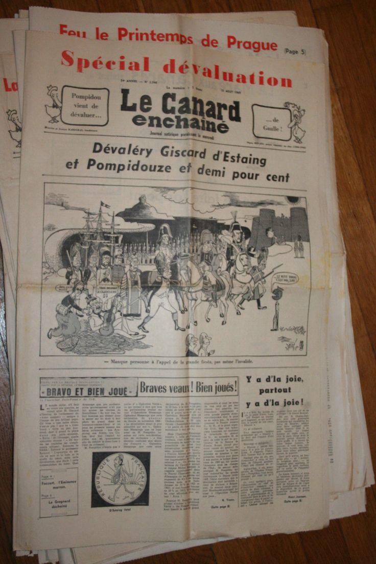 LE CANARD ENCHAINE       54è   ANNEE    13 AOUT     1969 | Livres, BD, revues, Livres anciens, de collection | eBay!
