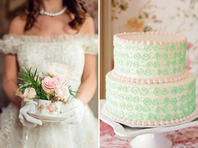 Vintage tea party themed bridal shower / Bradley James Photography