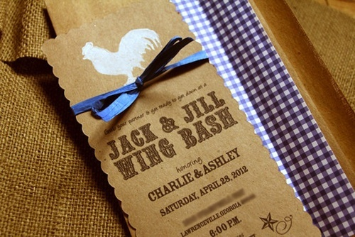 Jack and Jill Couples Wedding Shower Barbecue {Wing} Invitation | created by WWW.ETSY.COM/SHOP/SWEETMAGSDESIGN