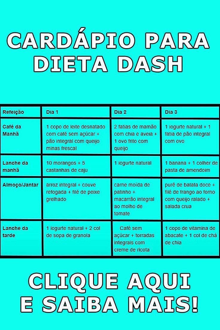 dash dieta cardapio