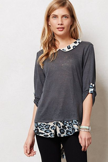 Spotted Borders Top #anthropologie
