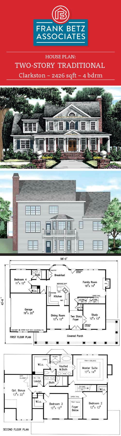 top 25 best affordable house plans ideas on pinterest house clarkston 2426 sqft 4 bdrm traditional house plan design by frank betz associates affordable