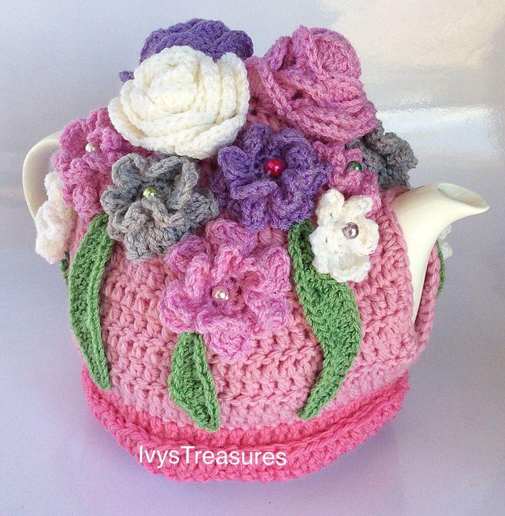 A personal favourite from my Etsy shop https://www.etsy.com/au/listing/271565817/crochet-roseflower-tea-cosy-anns-garden