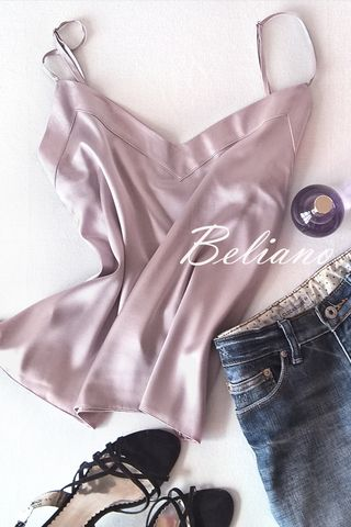 beliano.com.ua Silk top / silk camisole / natural silk wear / silk homewear/ must have this summer / шелковый топ на тонких бретелях без кружева натуральный шелк