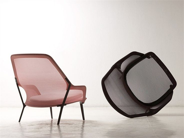 Fabric armchair SLOW CHAIR by @Vitra Furniture | Design Ronan & Erwan Bouroullec