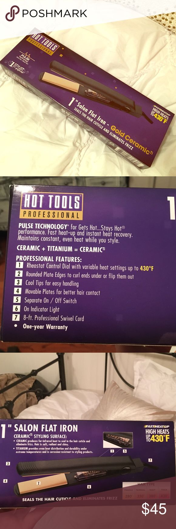 """Ceramic flat iron- Hot Tools 1"""" Brand new in box! hot tools Other"""