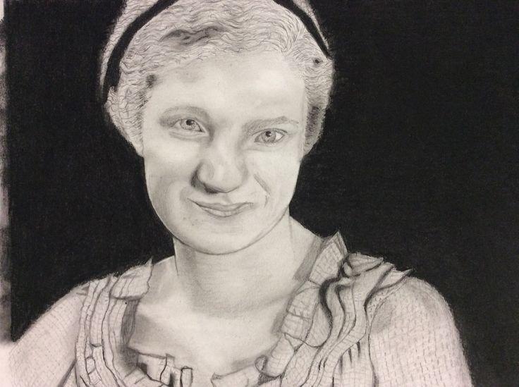 Pencil drawing of Kim McCosker 2015