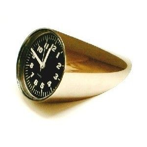 Orologio da tavolo produzione Italia anni 70 colore Inox in metallo