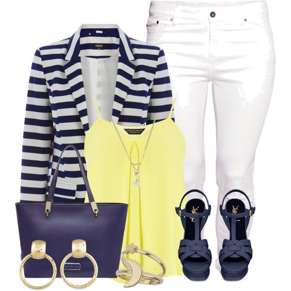 Yellow and Blue by lchar on Polyvore featuring moda, Dorothy Perkins, Oasis, H&M, Yves Saint Laurent, MARC BY MARC JACOBS, Paloma Picasso and Miss Selfridge