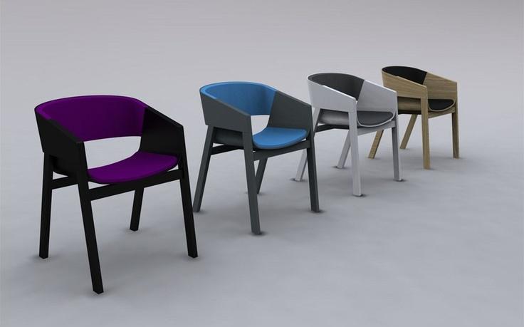 Židle Merano může být i v čalouněném provedení.
