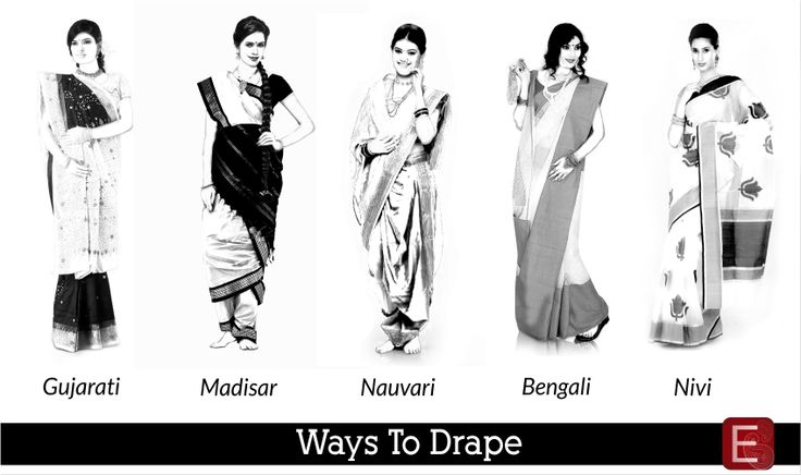 A 6 yards long unstitched piece of cloth draped in a set of pattern, accentuating the curves of a woman- Saree. The most stunning and versatile garment ever invented for a Woman.