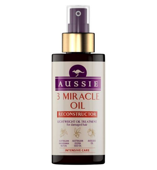 Aussie 3 Miracle Oil Reconstructor for Damaged Hair - Boots