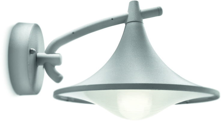 REA! Philips myGarden Cedar Vägglampa Grå 1X15W E27 IP44 - HemOchBastu.se