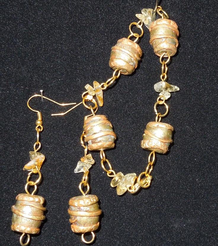 Braceles and earings