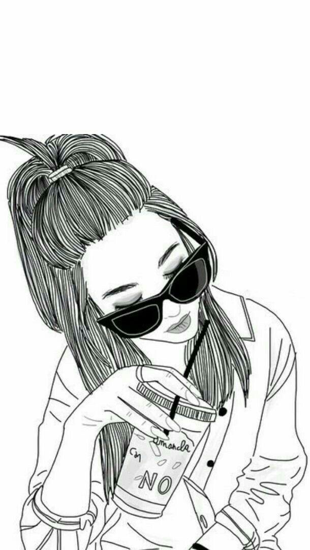 Black Girl Drawings Outline Simple