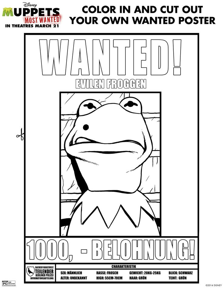 Free Wanted Poster Template For Kids Templatebillybullock – Most Wanted Posters Templates