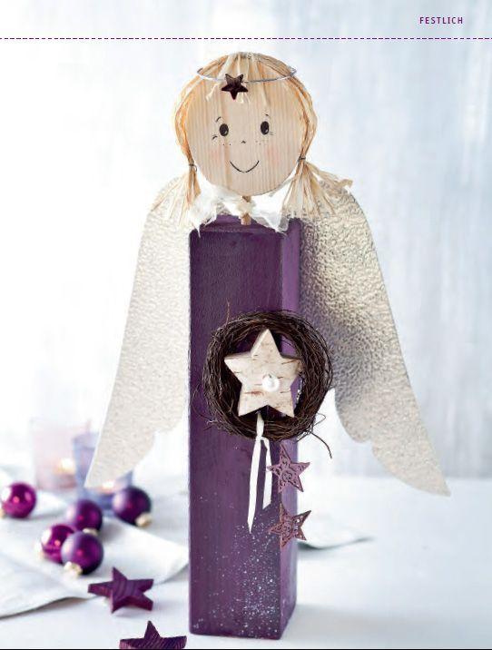 Weihnachtliche Holzpfosten - Liebevolle Figuren fr Winter & Weihnachten