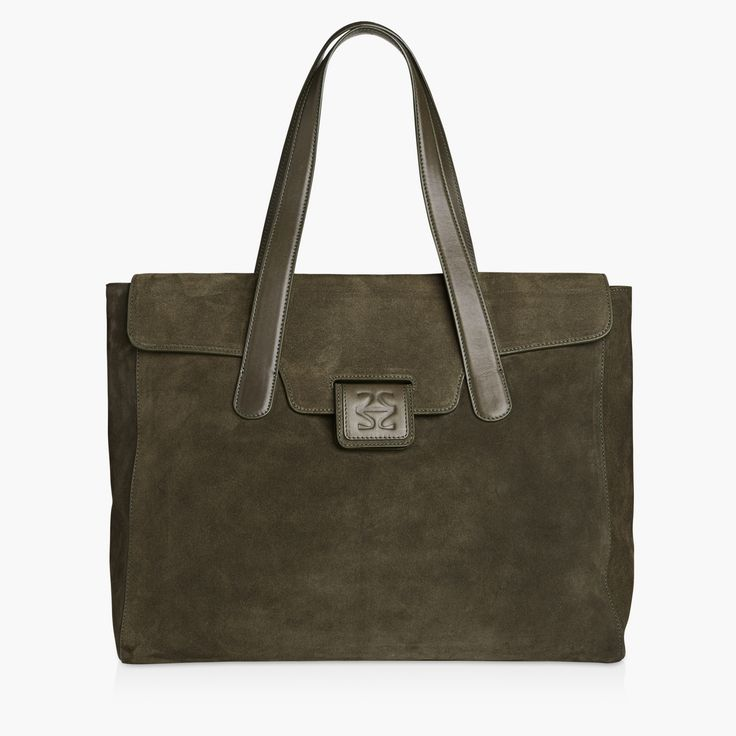 LARA - ARMY SUEDE. This beautiful everyday companion will make sure that everything from your laptop to your wallet is packed perfectly.