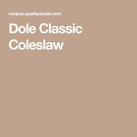 Dole Classic Coleslaw