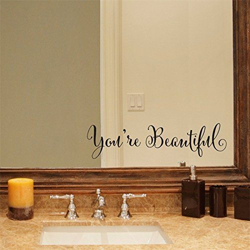 YINGKAI You're Beautiful Quote Mirror Decal Vinyl Decal Living Room Vinyl Carving Wall Decal Sticker for Home Window Decoration YINGKAI http://www.amazon.com/dp/B012GCPYBY/ref=cm_sw_r_pi_dp_O8vdxb17G8008