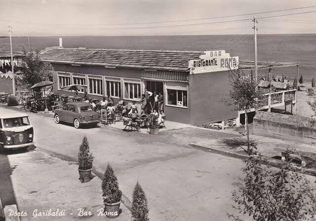 PORTO GARIBALDI anni '50  Bar Ristorante Bagno ROMA