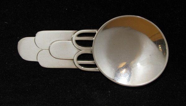 Art Deco silver caddy spoon (Sheffield) 1941 made by Joyce R Himsworth