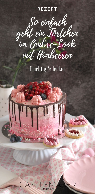 Fruchtige Torte Im Ombre Look Mit Himbeeren Heidelbeeren Drip Cake Castlemaker Tropfkuchen Fruchtige Torten Himbeeren