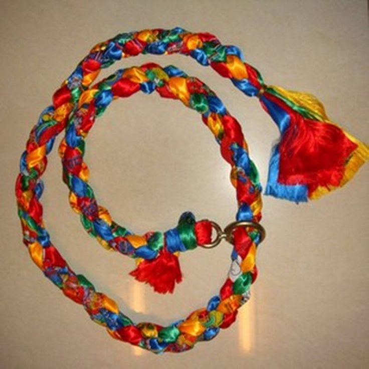 L037 Tibet Colorful Hada Ropes Hand knotted Leash for Tibetan Mastiff 2.3m long Cute gift for Zang`ao Dog