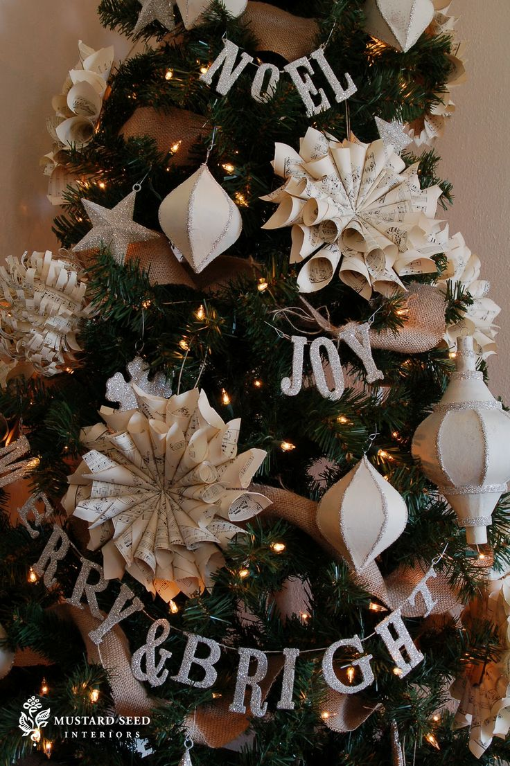 Germanic paganism amazing tabletop christmas trees decorating plan - Chipboard Letters And German Glass Glitter Merry Bright Banner Love This
